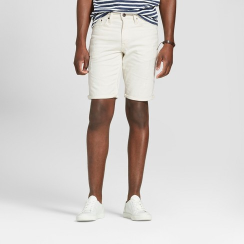 "Men's 11.5"" Slim Fit Denim Shorts - Goodfellow & Co™ White - image 1 of 3"