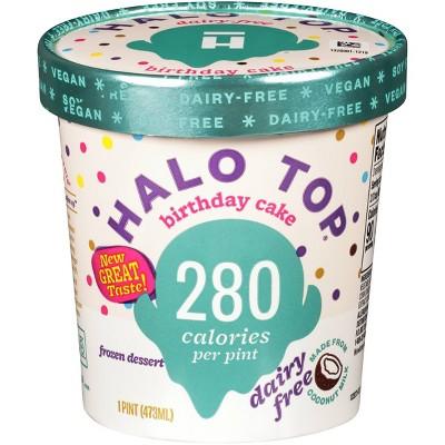 Halo Top Dairy-Free Birthday Cake Frozen Dessert - 16oz