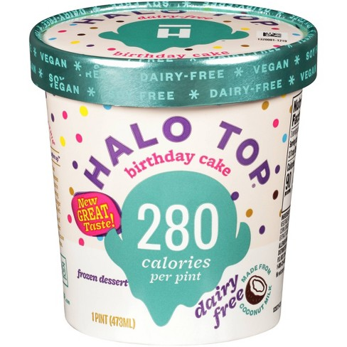 Halo Top Dairy-Free Birthday Cake Frozen Dessert - 16oz - image 1 of 2