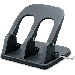 Business Source Adjustable 3-Hole Punch - Black