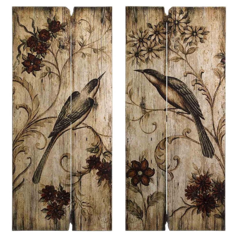 "Image of ""Aurora Decorative Wall Art Set - Brown (3.5 X 41.5 X 20.5"""")"""