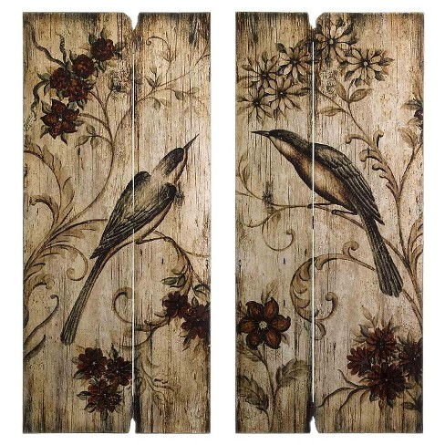 Aurora Decorative Wall Art Set Brown 3 5 X 41 5 X 20 5