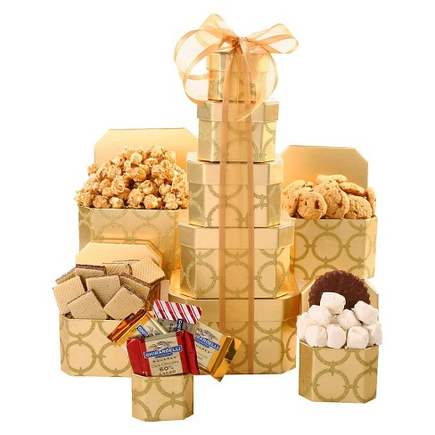 Alder Creek Gifts Golden Sweets Tower - 2lbs - image 1 of 1