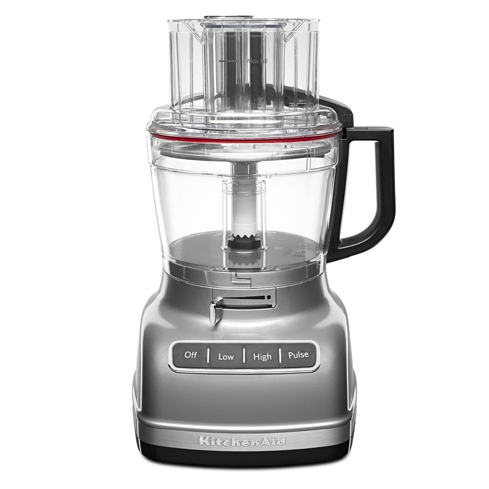 Image of KitchenAid 11 Cup Food Processor with ExactSlice System - KFP1133, Contour Silver