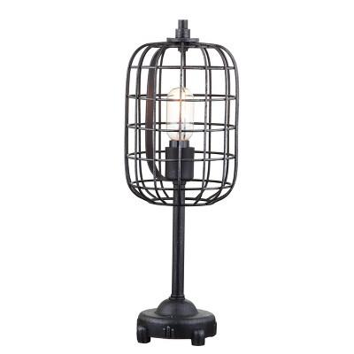 "20"" Metal Odette Industrial Table Lamp (Includes Light Bulb) Black - JONATHAN Y"
