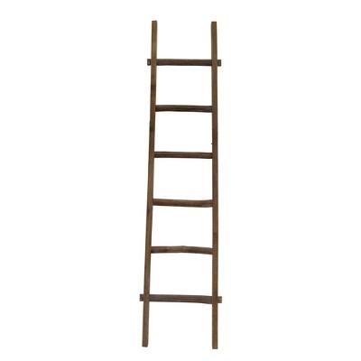 """76"""" Wooden Decorative Ladder Brown - Sagebrook Home"""