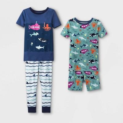 Toddler Boys' 4pc Whales Submarines Pajama Set - Cat & Jack™ Violet