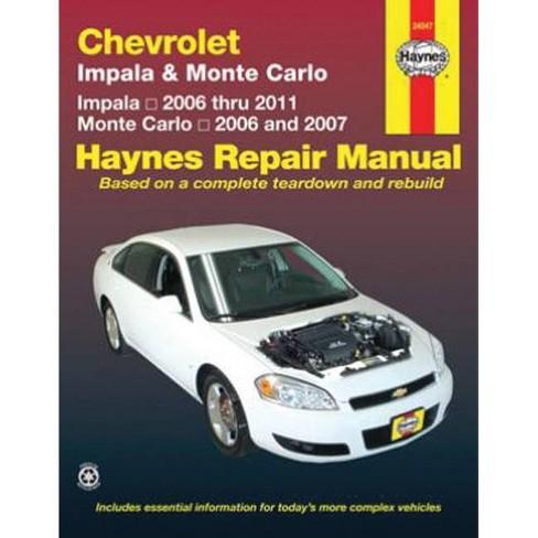 Chevrolet Impala & Monte Carlo - (Haynes Repair Manual (Paperback)) by  John Haynes (Paperback) - image 1 of 1