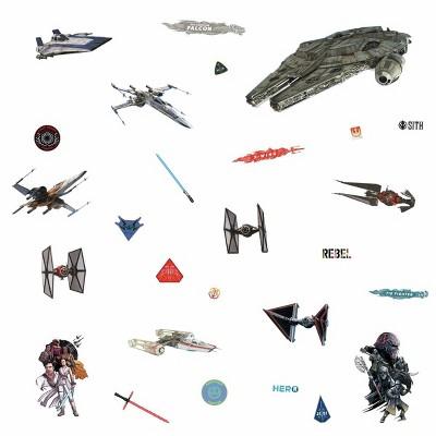 Star Wars Episode IX Galactic Ships Peel & Stick Wall Decal - Roommates