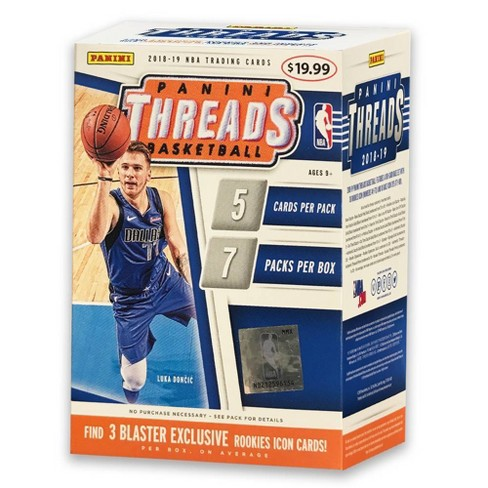 2018 19 Nba Threads Basketball Trading Card Blaster Box