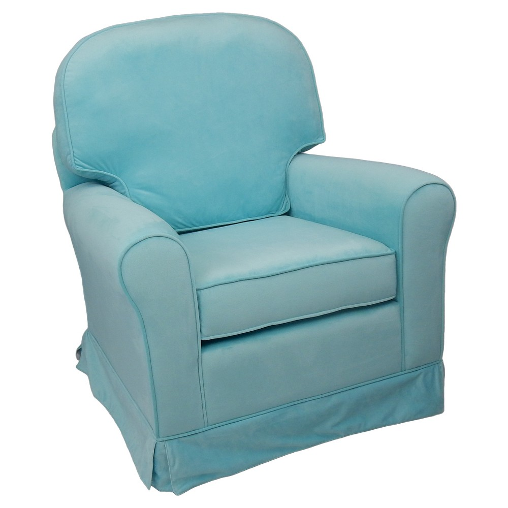 Image of Eve Upholstered Glider Chair - Aqua, Blue