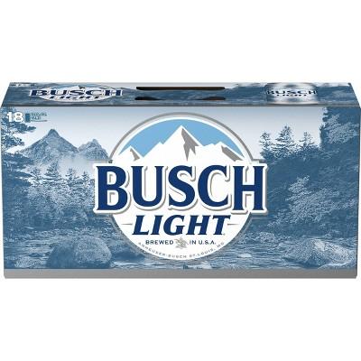 Busch Light Beer 18pk 12 Fl Oz Cans Target