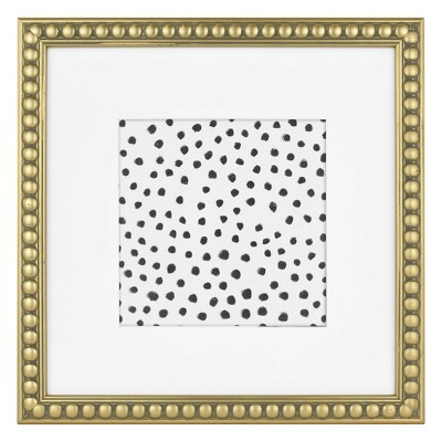"5"" x 5"" Beaded Frame Art Antique Brass - Opalhouse™"