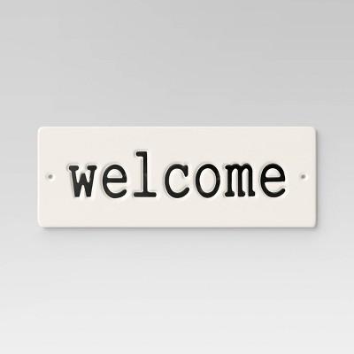 14  Aluminum Rectangular Welcome Sign White - Smith & Hawken™