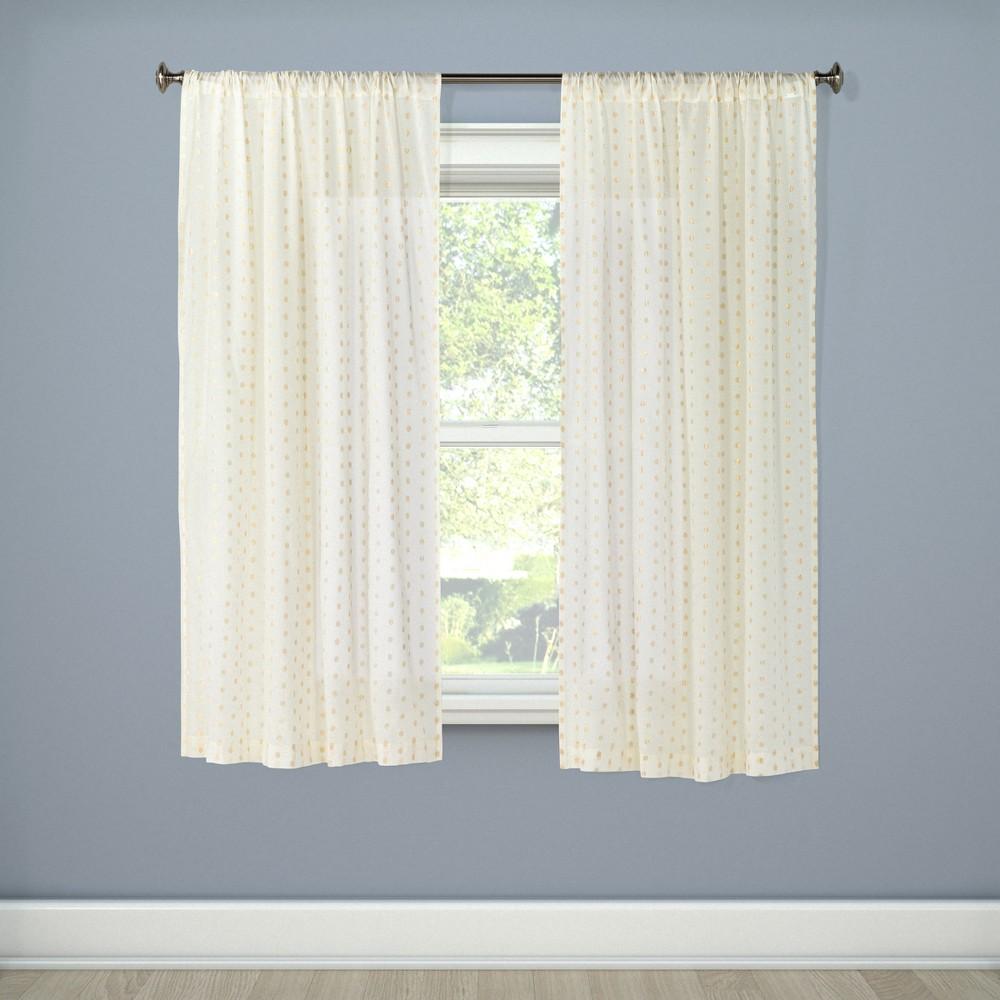 Metallic Dot Window Sheer Cream (Ivory) (42