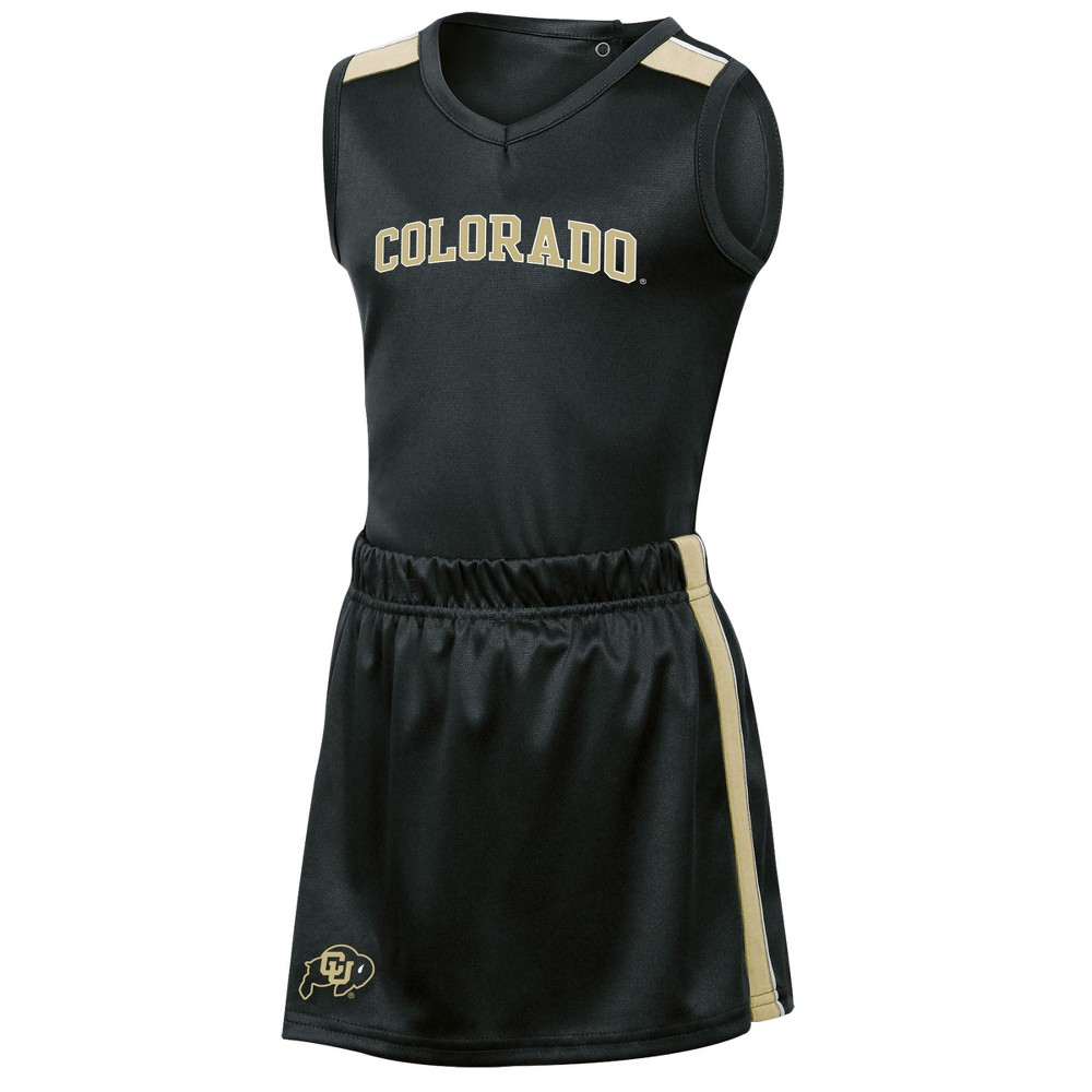 Colorado Buffaloes Girls' 3pc Cheer Set 4T, Multicolored