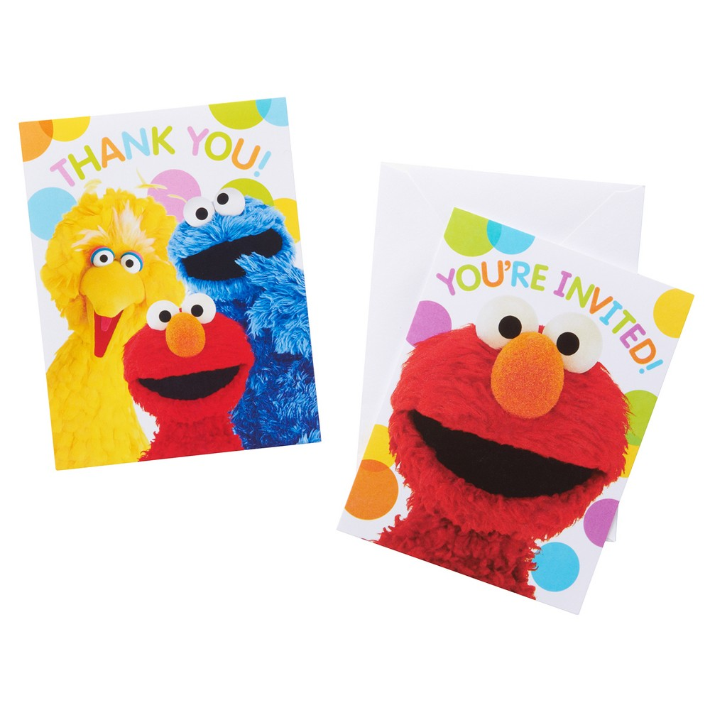 8ct Elmo Invite And Thank You Combo Pack