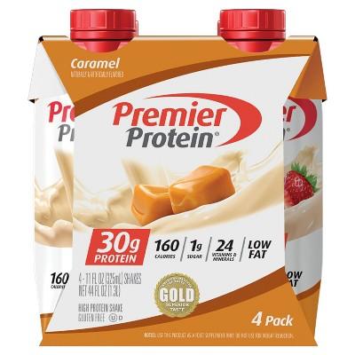 Premier Protein Shakes - Caramel - 11 fl oz/4ct Bottles