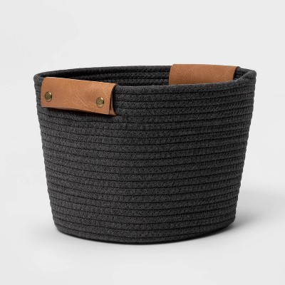"11"" Medium Coiled Rope Warm Gray Charcoal - Threshold™"