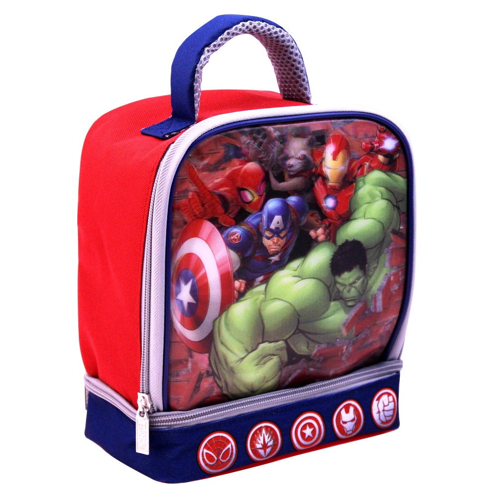 Avengers Dual Compartment Lunch Bag, Multi-Colored