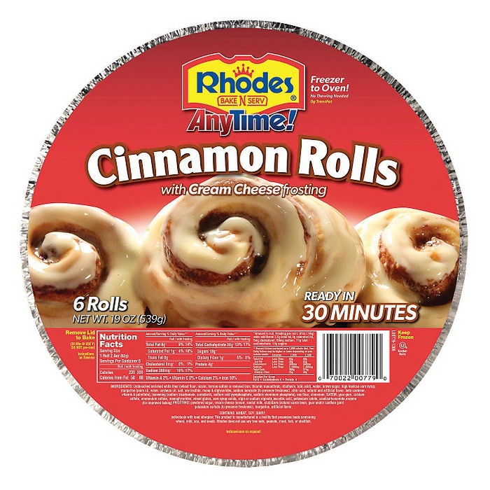 Rhodes Bake-in-pan Frozen Cinnamon Rolls - 19oz - image 1 of 1