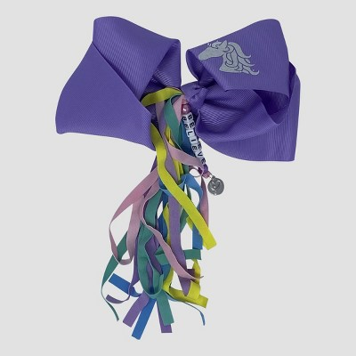 Girls' JoJo Siwa Unicorn Fringe Bow Hair Clip - Purple