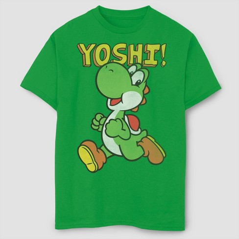 Boys' Super Mario Bros Its Yoshi T-Shirt - Green - image 1 of 2