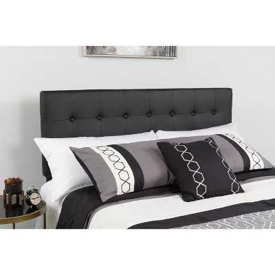 Emma and Oliver Button Tufted Upholstered Headboard