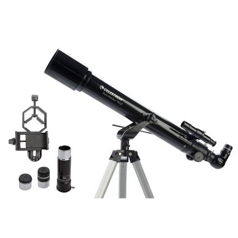 Celestron PowerSeeker 70AZ Telescope with Basic Smartphone Adapter - Black - image 1 of 4