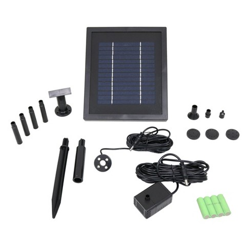 65 GPH Outdoor Solar Pump and Panel Kit With Battery Pack - Sunnydaze Decor - image 1 of 2