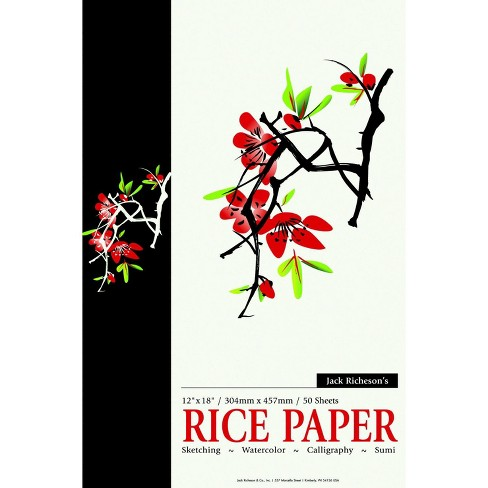 Jack Richeson Acid-Free Rice Paper Pad, 12 x 18 Inches, 50 Sheets - image 1 of 1