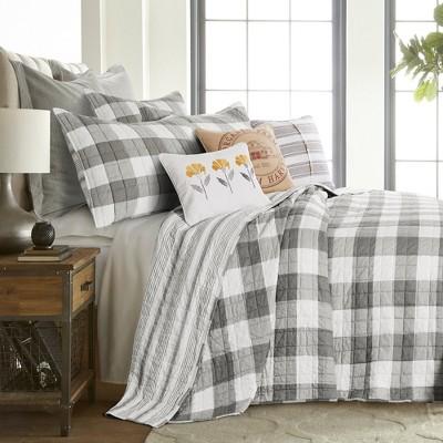 Camden Grey Bedspread and Pillow Sham Set - Levtex Home