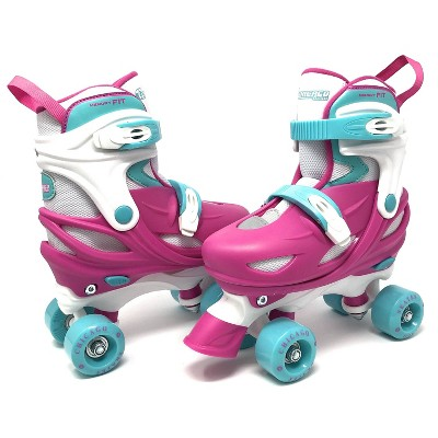 Chicago Skates Adjustable Kids' Quad Roller Skate - Pink/White