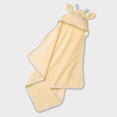 Baby Giraffe Critter Hooded Towel - Cloud Island™ Yellow
