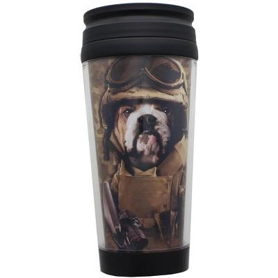 Just Funky Combat Sam 16oz Plastic Travel Mug