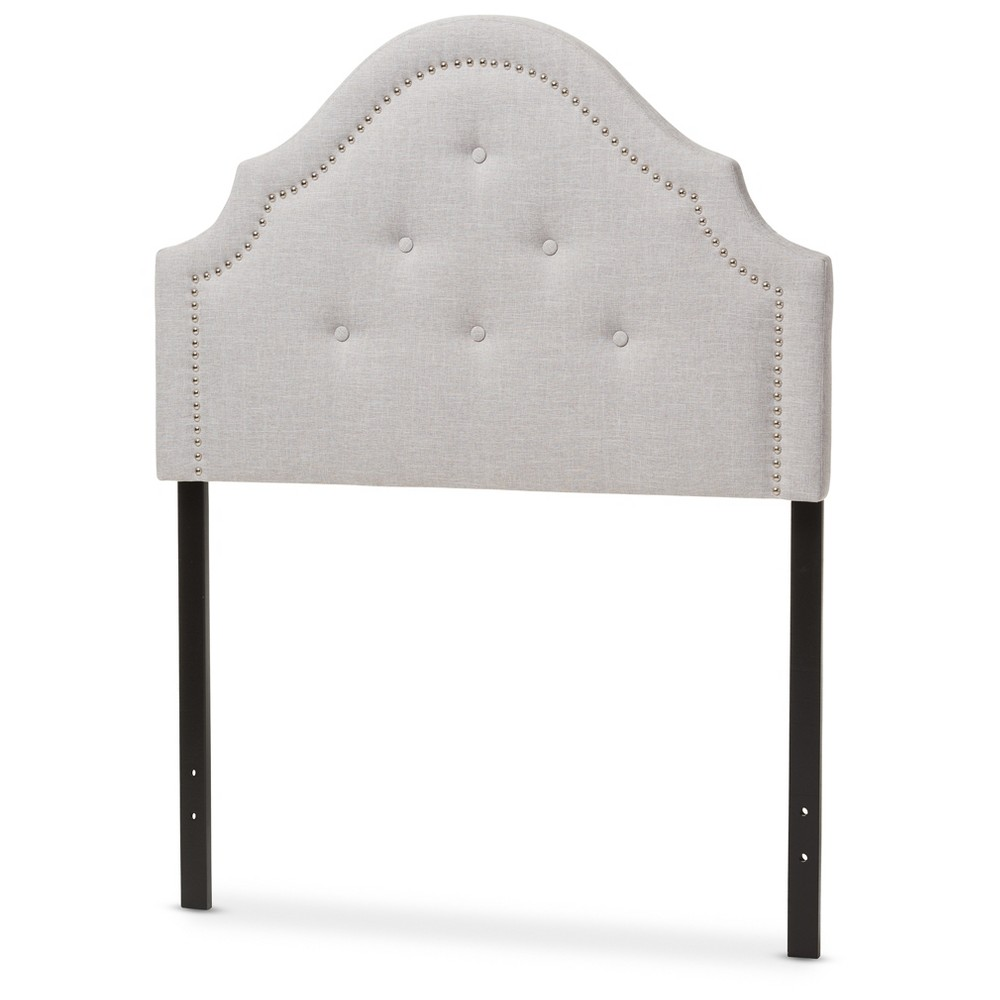 Cora Modern And Contemporary Fabric Upholstered Headboard Twin Light Beige - Baxton Studio