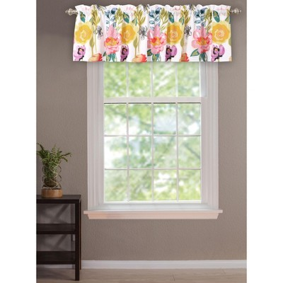 """Greenland Home Fashion High Quality Watercolor Dream Window Valance - 84""""x19"""" in Multicolor"""
