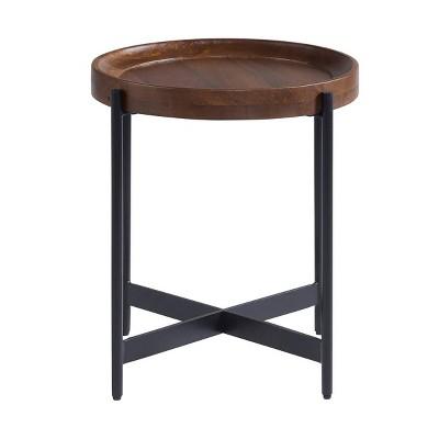 "20"" Brookline Round End Table Medium Chestnut - Alaterre Furniture"