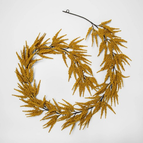 "72"" x 7"" Artificial Goldenrod Garland Yellow - Threshold™ - image 1 of 1"