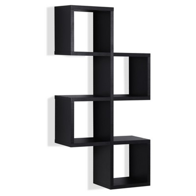 Cubby Chessboard Wall Shelf - Black - Danya B.