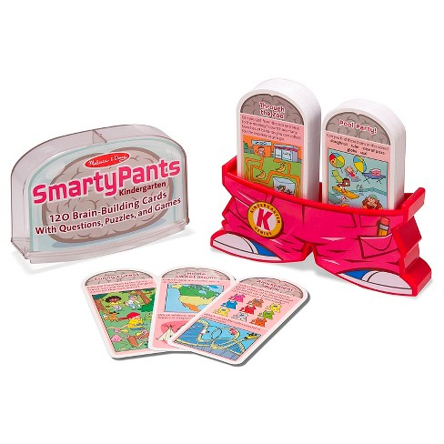 Melissa & Doug® Smarty Pants Kindergarten Card Set - 120 Educational, Brain-Building Questions, Puzzles, and Games - image 1 of 3