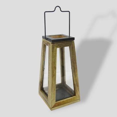 14  Wood & Zinc Metal Outdoor Lantern - Smith & Hawken™