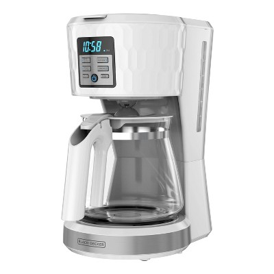 BLACK+DECKER 12-Cup Coffee Maker - Honeycomb White
