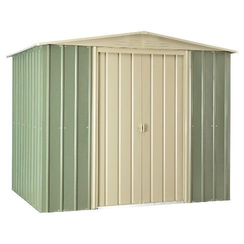 8'X6' Metal Gable Roof Shed Mist - Green - Globel - image 1 of 3