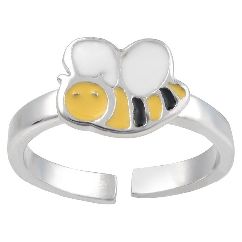 Women's Journee Collection Adjustable Bee Toe Ring in Sterling Silver - Silver - image 1 of 2