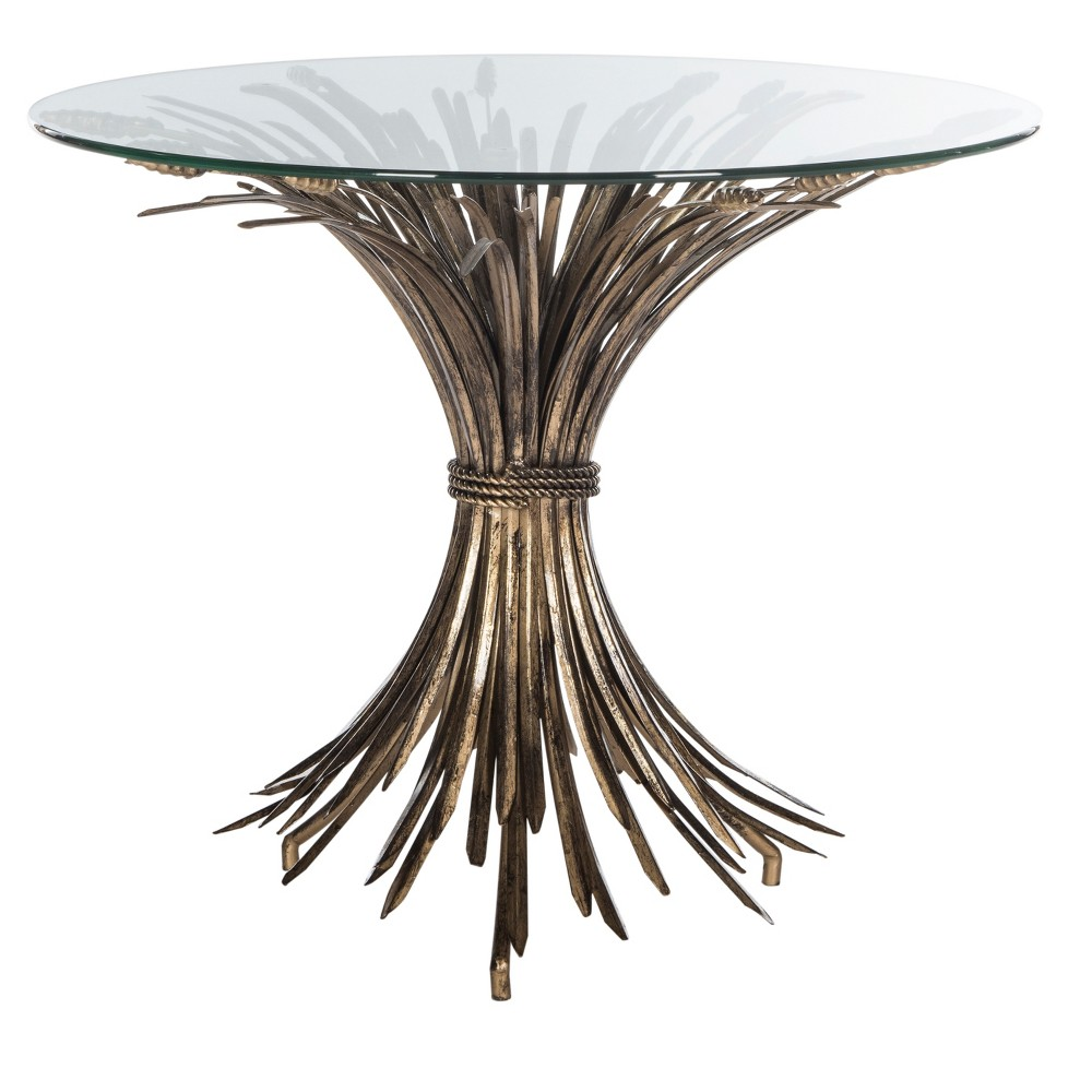 Ayris Accent Table - Gold / Clear - Safavieh