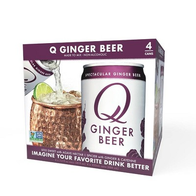 Q Mixers Ginger Beer - 4pk/7.5 fl oz Cans