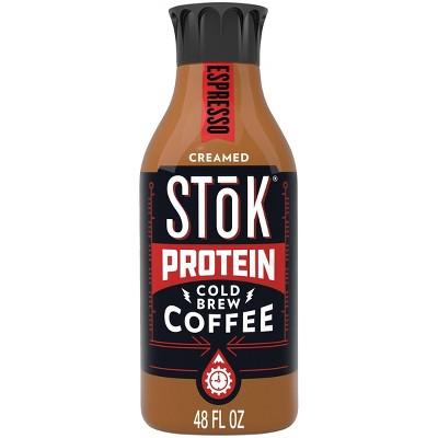 SToK Protein Espresso Cold Brew Coffee - 48 fl oz Bottle