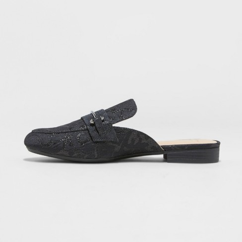 c252d9b7e52 Women s Remy Jacquard Backless Loafer Mules - A New Day™ Black 7.5   Target