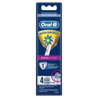 Oral-B Cross Action Electric Toothbrush Replacement Brush Heads - 4ct